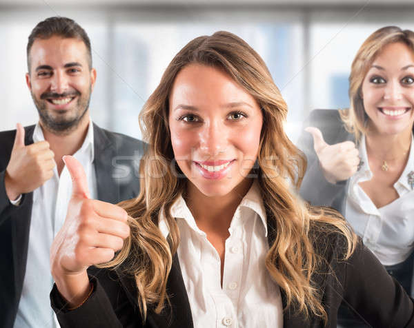 Positive teamwork Stock photo © alphaspirit