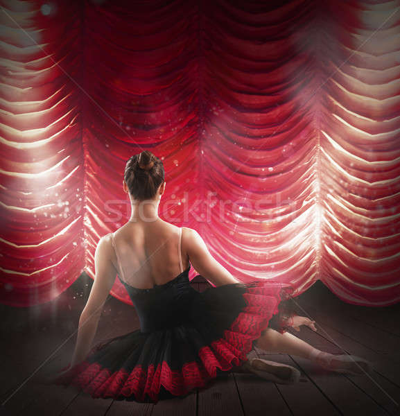 Ballerina at theater Stock photo © alphaspirit