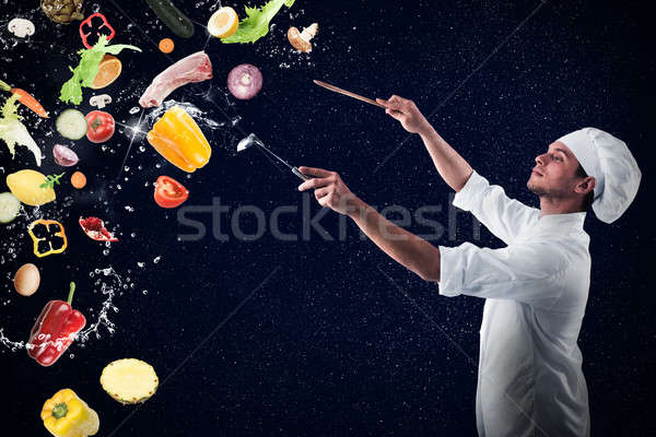 Comida musical harmonia menu chef Foto stock © alphaspirit
