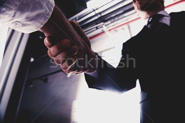 事業者 オフィス チームワーク パートナーシップ ビジネス 男 ストックフォト © alphaspirit