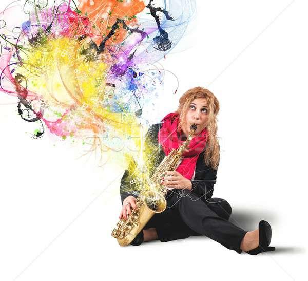 Saxophonist Stock photo © alphaspirit