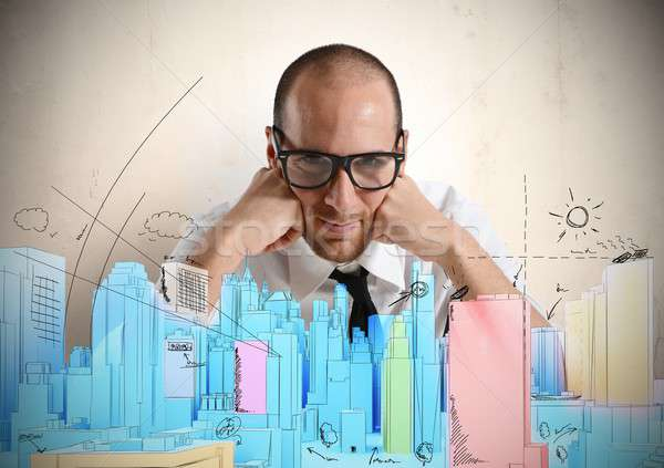 Architect and new project Stock photo © alphaspirit
