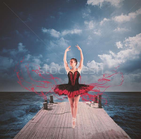 Danseur quai classique danse femme Photo stock © alphaspirit