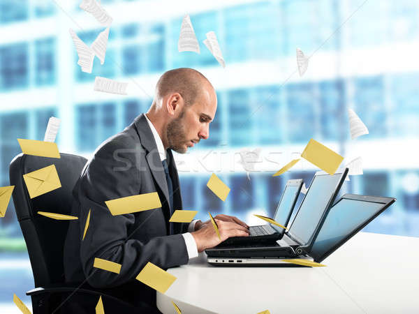 Despair and stress for spam e-mail Stock photo © alphaspirit