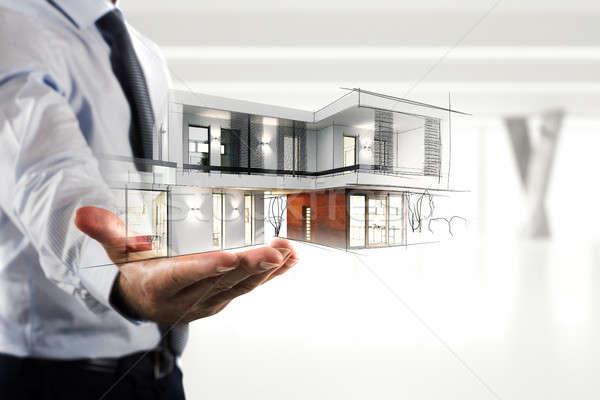 бизнесмен современных служба проект стороны Сток-фото © alphaspirit