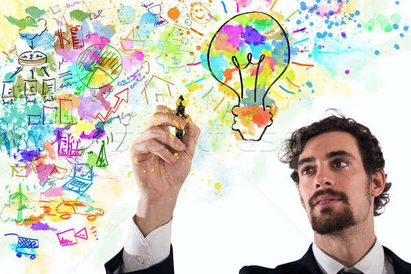Empresario creativa negocios proyecto brillante colores Foto stock © alphaspirit