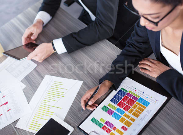 Team of business person works together. Concept of teamwork Stock photo © alphaspirit
