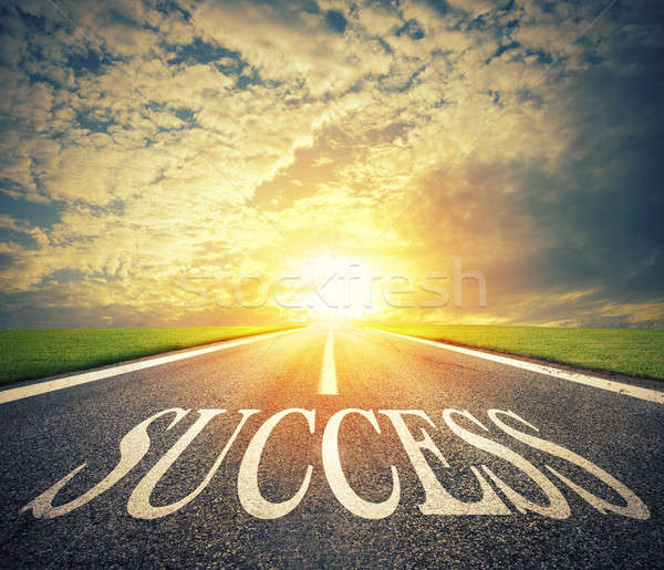 Road of the success. The way for new business opportunities Stock photo © alphaspirit