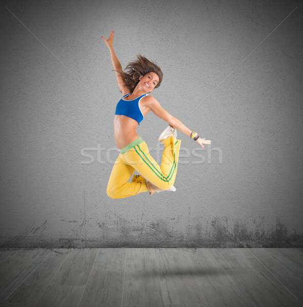 Dancer jumps Stock photo © alphaspirit