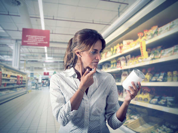 Lány áruház valódiság termék üzlet nő Stock fotó © alphaspirit