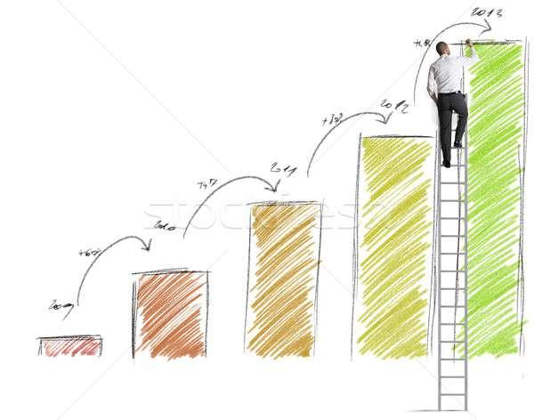 Statistiche imprenditore lavoro lavoro successo manager Foto d'archivio © alphaspirit