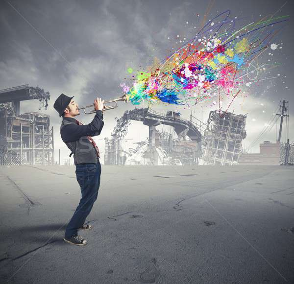 Trumpeter Stock photo © alphaspirit