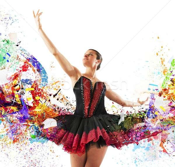 色 クラシカル ダンサー 音符 女性 ダンス ストックフォト © alphaspirit