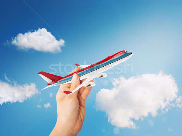 3D Rendering toy airliner Stock photo © alphaspirit