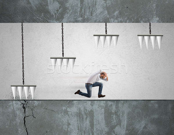 Negocios dificultad empresario peligroso trampa carrera Foto stock © alphaspirit