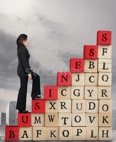 Climb to increase success in business Stock photo © alphaspirit