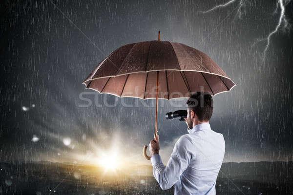 üzletember jobb jövő ki pénzügyi gazdasági Stock fotó © alphaspirit
