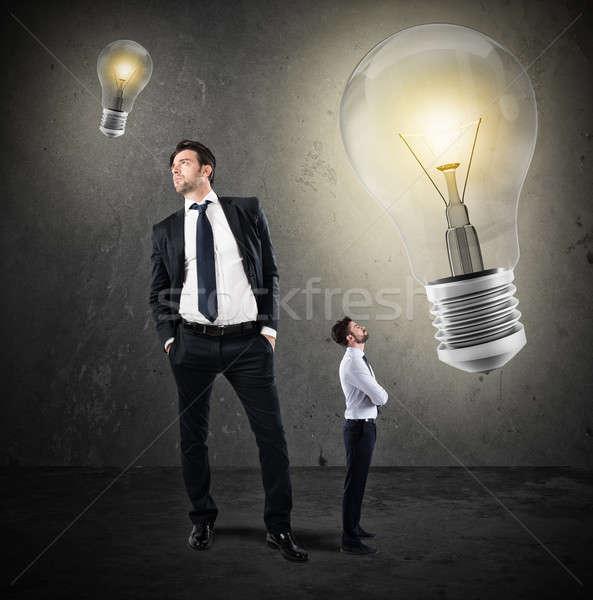 Nagyszerű ötletek kicsi üzletemberek nagy üzletember Stock fotó © alphaspirit