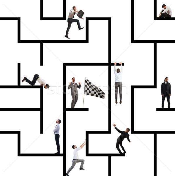 Business game of maze Stock photo © alphaspirit