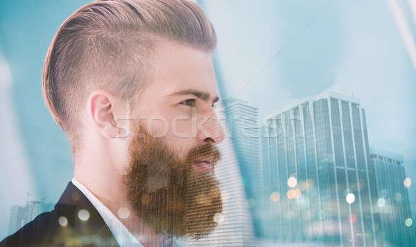 ビジネスマン ルックス 遠く 将来 革新 スタートアップ ストックフォト © alphaspirit