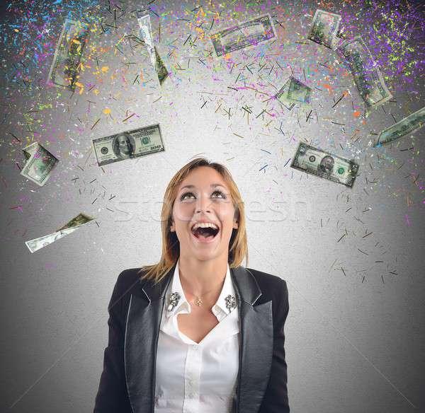 Businesswoman money Stock photo © alphaspirit