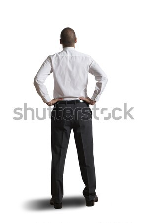 Concept of businessman looking the future Stock photo © alphaspirit