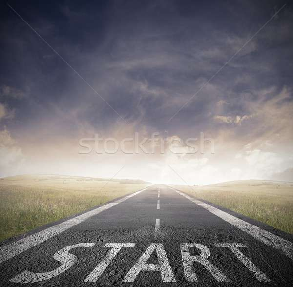 Start straight for business Stock photo © alphaspirit