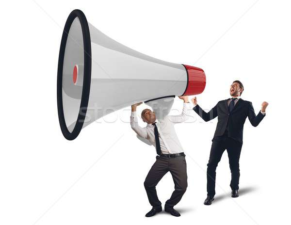 Business powerful speech Stock photo © alphaspirit