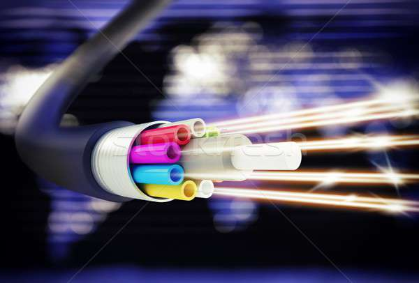 Speed of optic fiber Stock photo © alphaspirit
