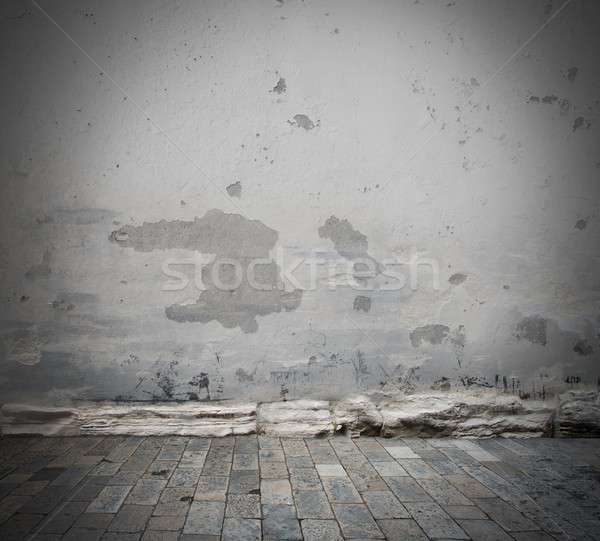 Damaged wall background Stock photo © alphaspirit