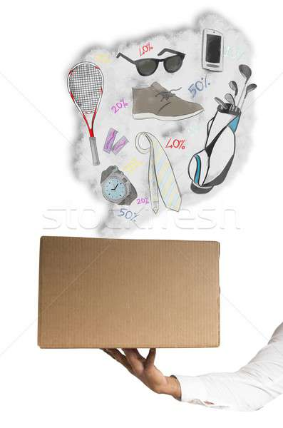 Shop online package Stock photo © alphaspirit