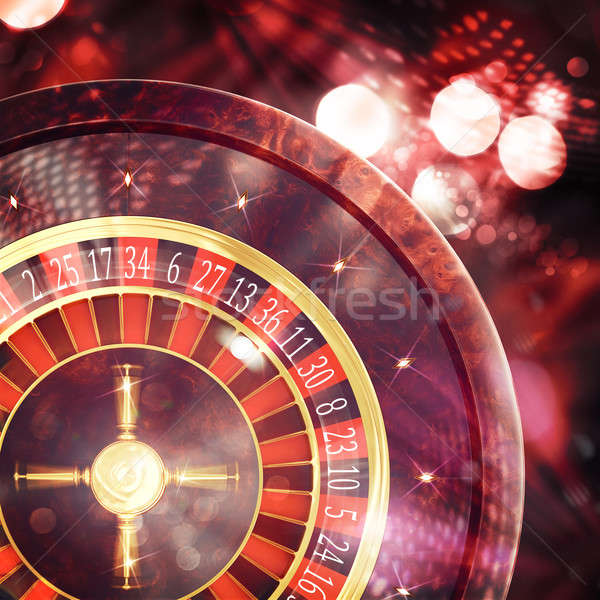 3D Rendering of casino roulette Stock photo © alphaspirit