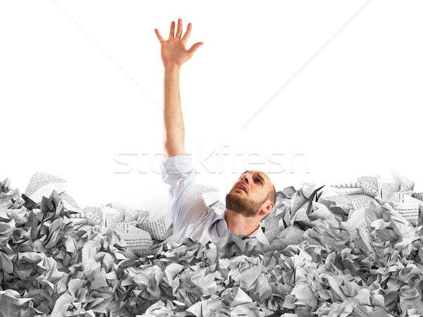 Drown between worksheets Stock photo © alphaspirit