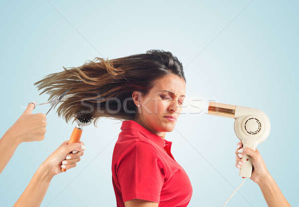 Stock photo: Hair style concept