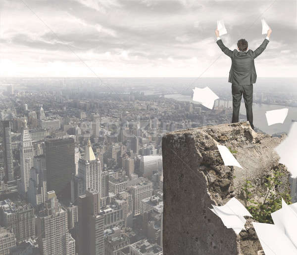 Businessman who has achieved success Stock photo © alphaspirit