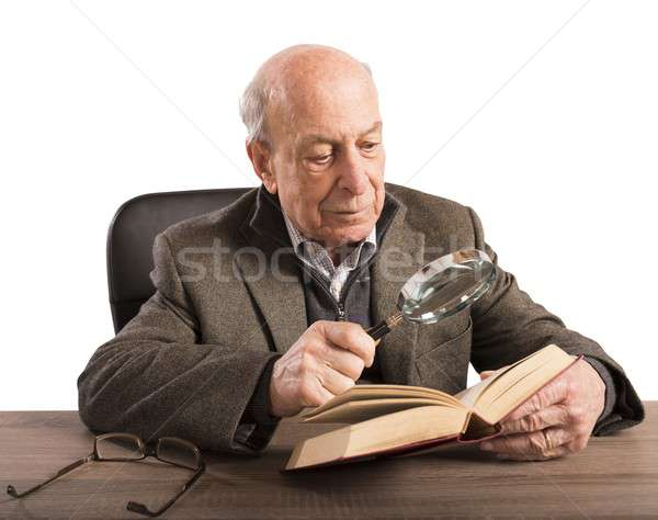 Old man knowledge and culture Stock photo © alphaspirit