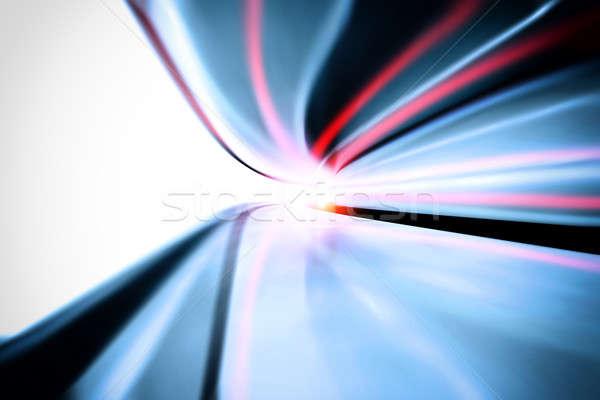 Futuriste tunnel fond lumière modernes façon Photo stock © alphaspirit