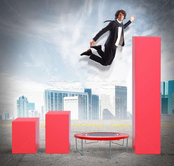 Empresario mejor estadística alto negocios hombre Foto stock © alphaspirit