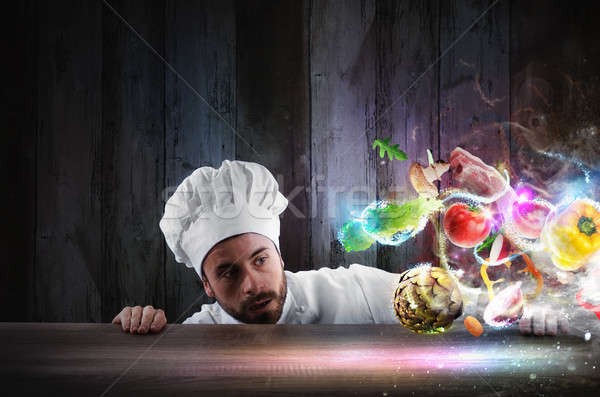 Magia comida receita chef ingredientes Foto stock © alphaspirit