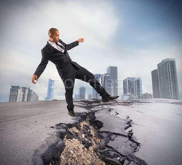 Overcome a crisis break Stock photo © alphaspirit