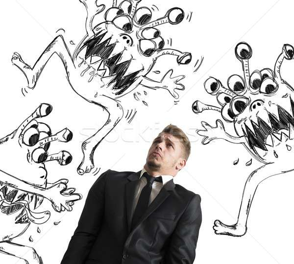 Contagion of virus Stock photo © alphaspirit