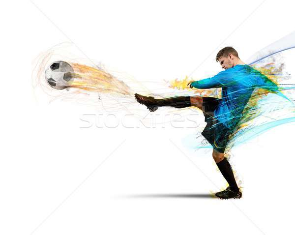 Calcio fuoco palle di fuoco sport abstract Foto d'archivio © alphaspirit