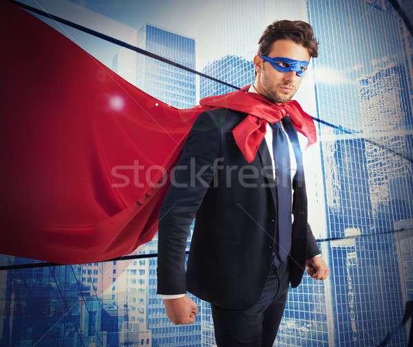 Confident worker superhero Stock photo © alphaspirit