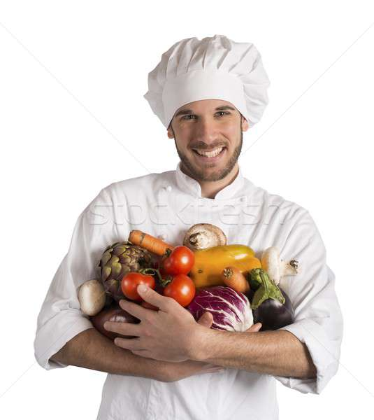 Vegetarian chef Stock photo © alphaspirit
