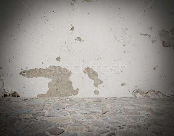 Grey deteriorated background Stock photo © alphaspirit