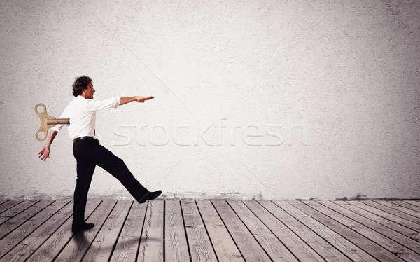 Empresário fantoche homem como trabalhador liberdade Foto stock © alphaspirit