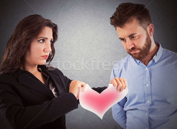 любви отношения сердиться женщину красный бумаги Сток-фото © alphaspirit