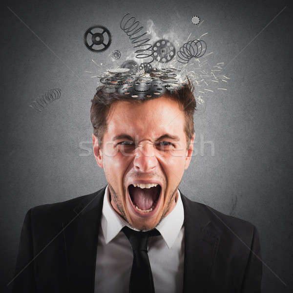 Exhausted businessman Stock photo © alphaspirit