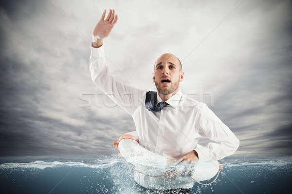 Help businessman falls Stock photo © alphaspirit