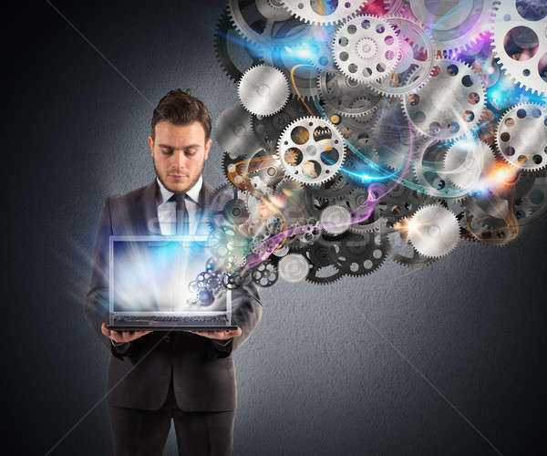 Meccanismo business web imprenditore laptop attrezzi Foto d'archivio © alphaspirit
